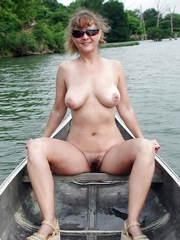 Naked Mom on the boat