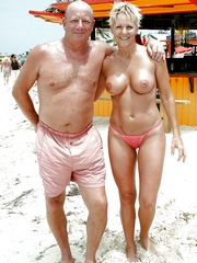 Mature nudists couples beach photos