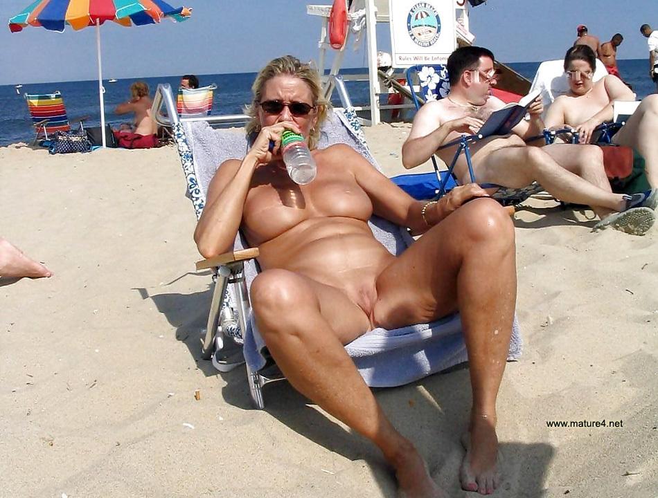 Nude mums at beach