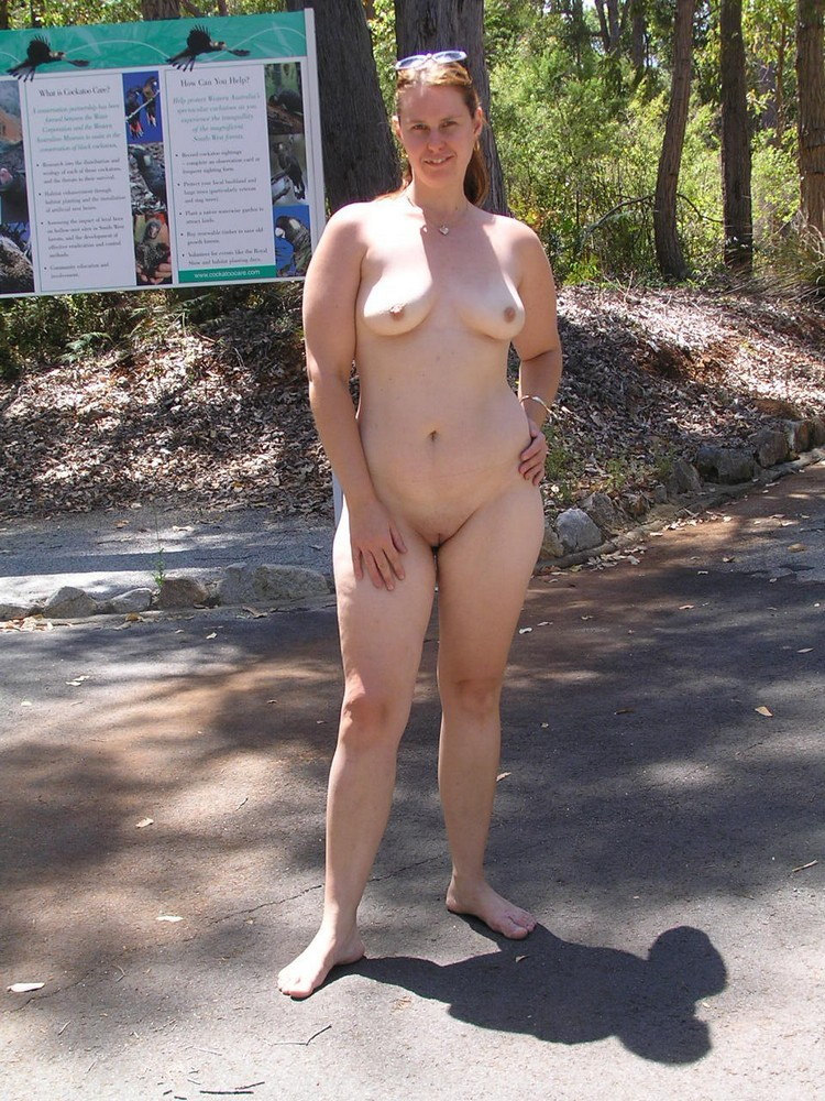 Hot Chubby MILF Outdoors naked - big photo #5